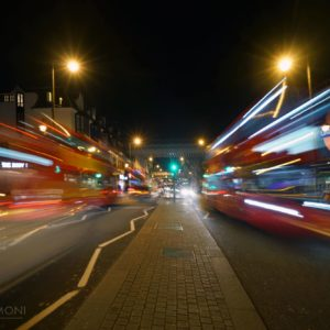 Buses in London at night for UNECE Regulation 107 post